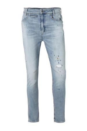 gemêleerde cropped boyfriend jeans grijsblauw