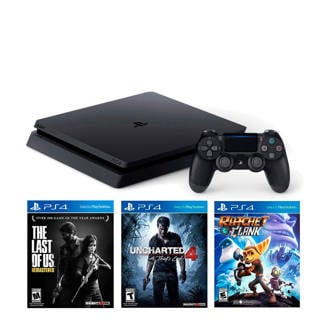 Slim 1TB + Ratchet & Clank + Uncharted 4 + The Last of us remastered