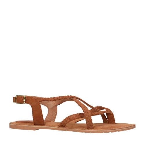 Sacha suède sandalen cognac kopen