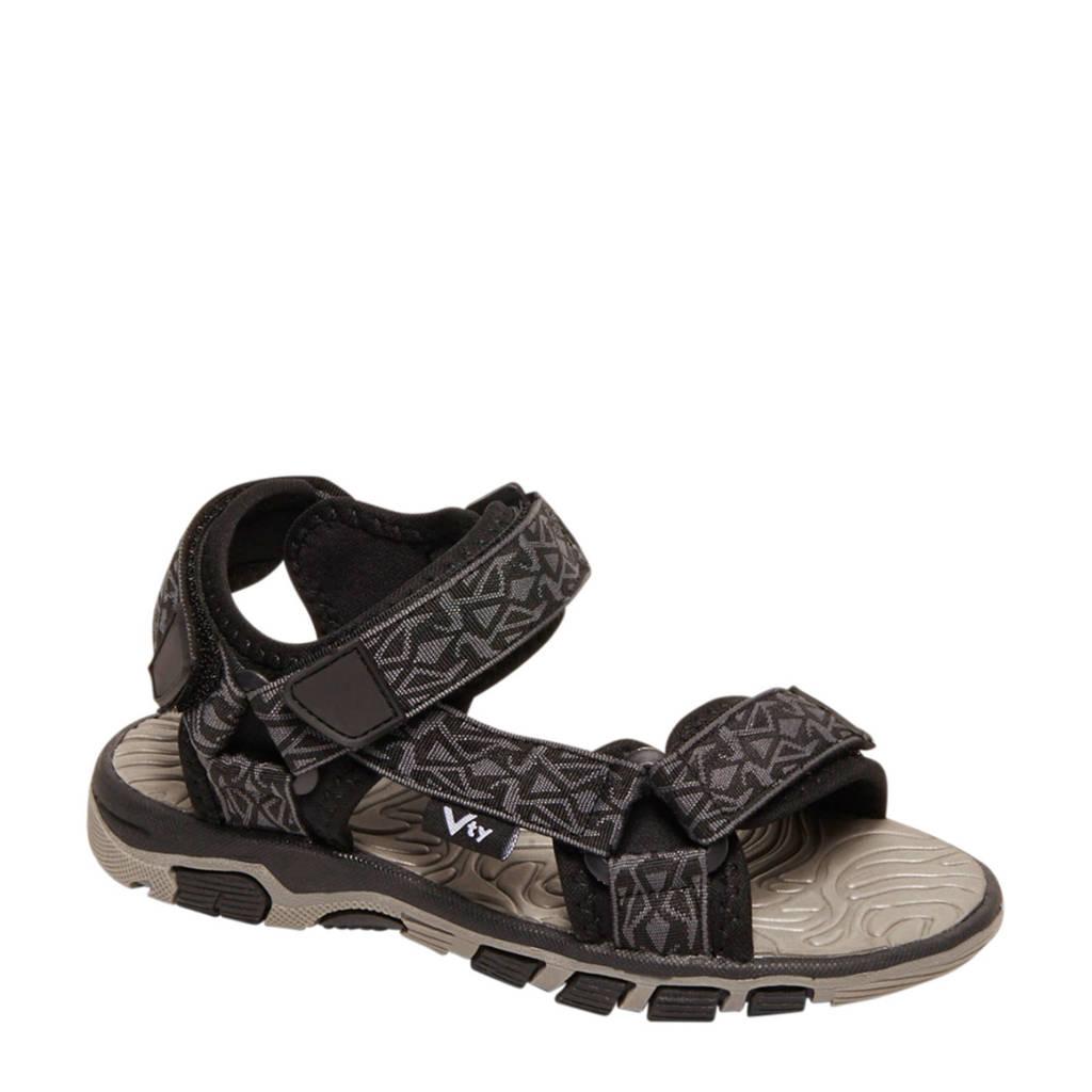 Victory sandalen grijs/zwart, Grijs/zwart