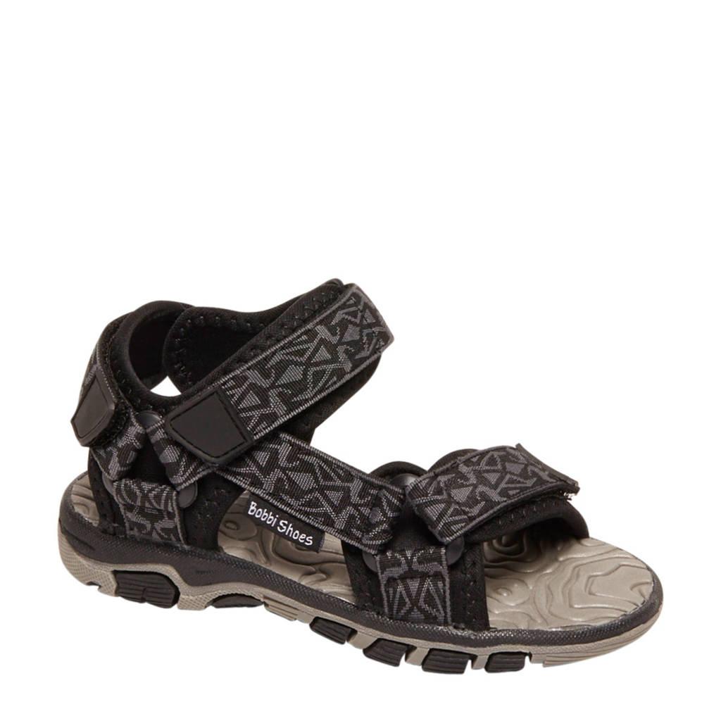 Bobbi-Shoes   sandalen grijs/zwart, Grijs/zwart