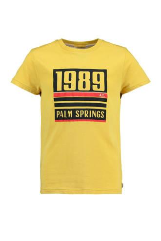 T-shirt Ed met tekst geel