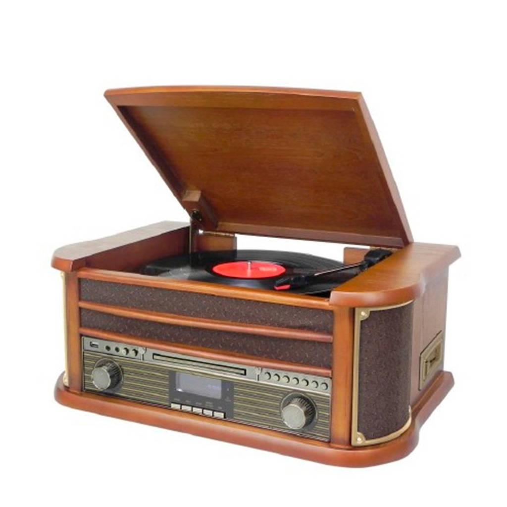 Soundmaster NR545DAB Platenspeler, Bruin, Hout