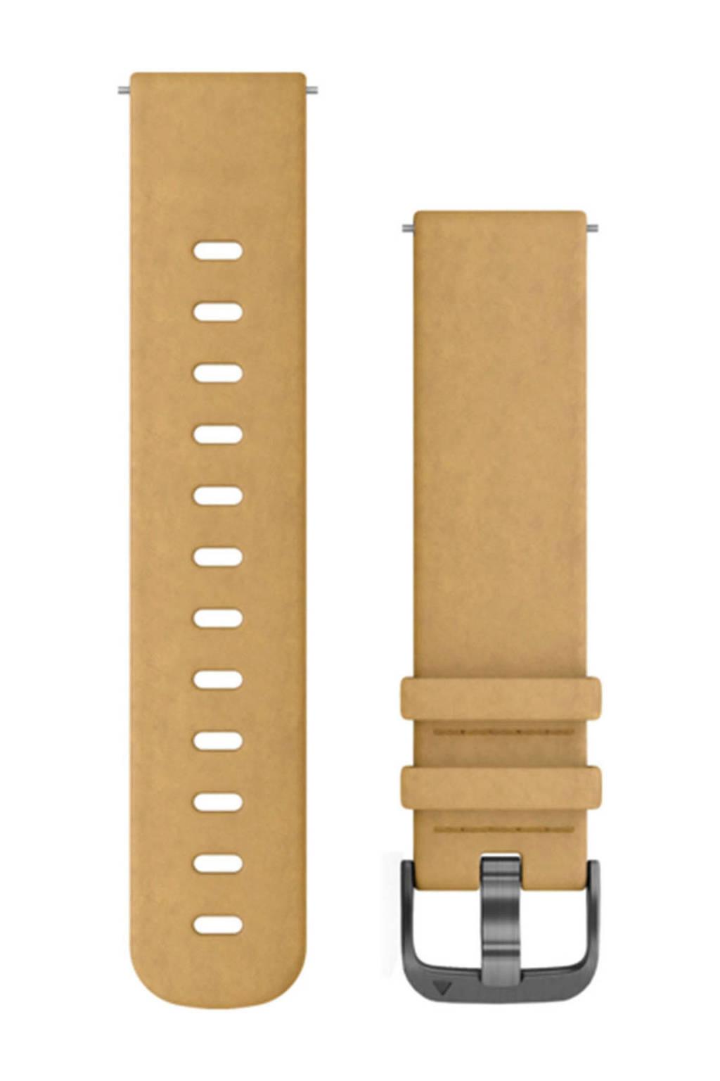 Garmin Quick Release suède polsband beige, Lichtbruin