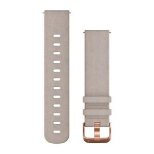 Quick Release suède polsband grijs