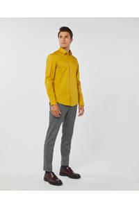 WE Fashion slim fit overhemd geel, Geel