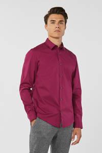 WE Fashion slim fit overhemd paars, Paars