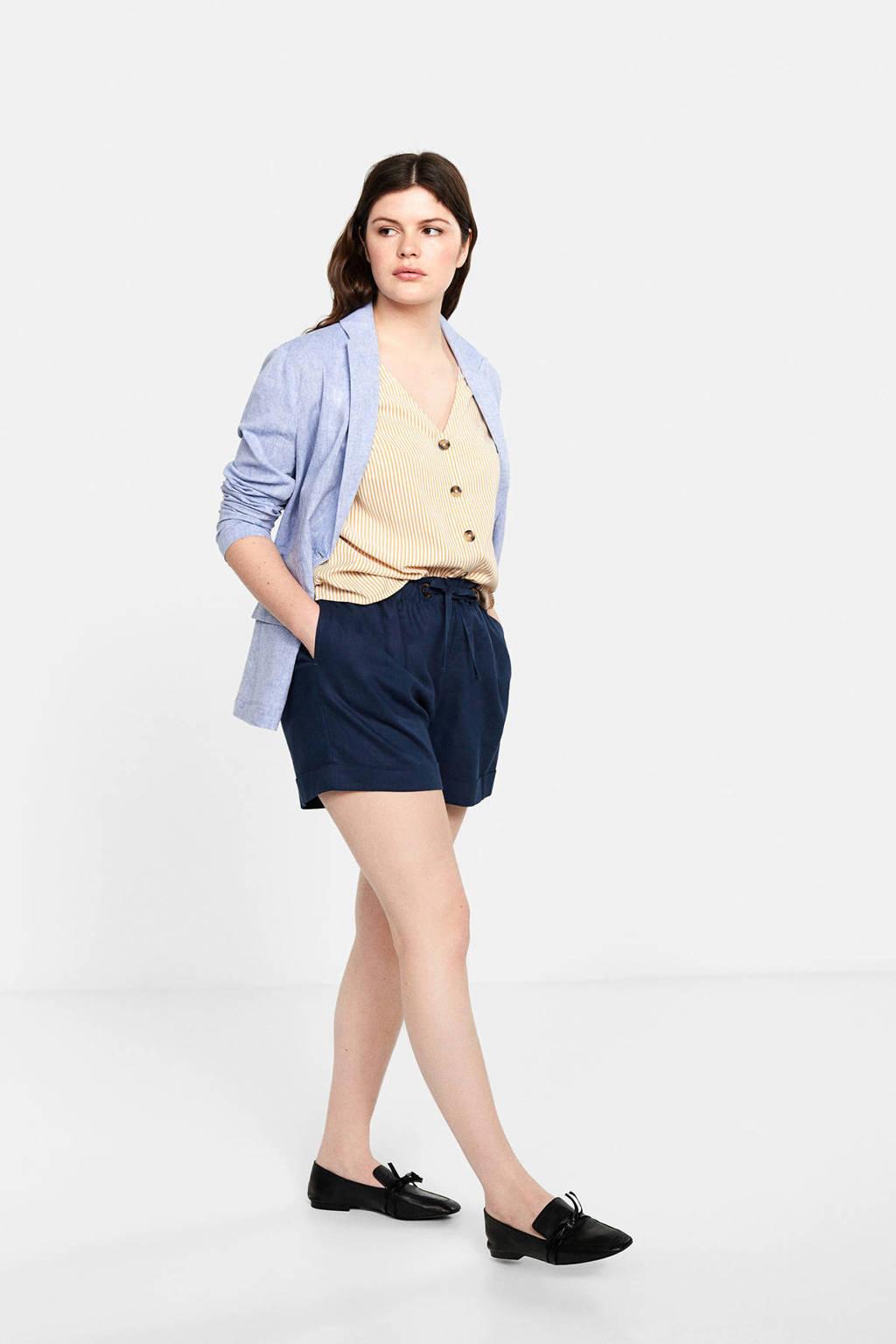 Violeta by Mango gestreepte blouse, Geel