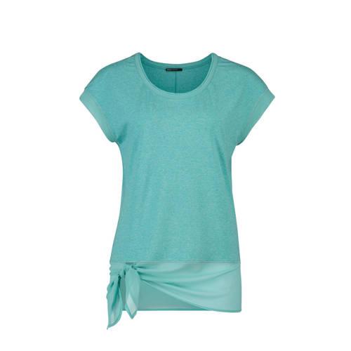 Expresso T-shirt met mesh en strikdetail kopen