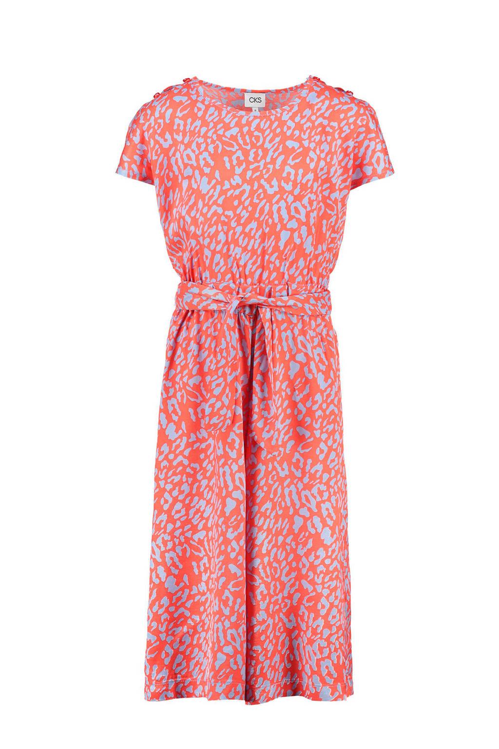 CKS KIDS jumpsuit Gardenas met panterprint rood, Rood