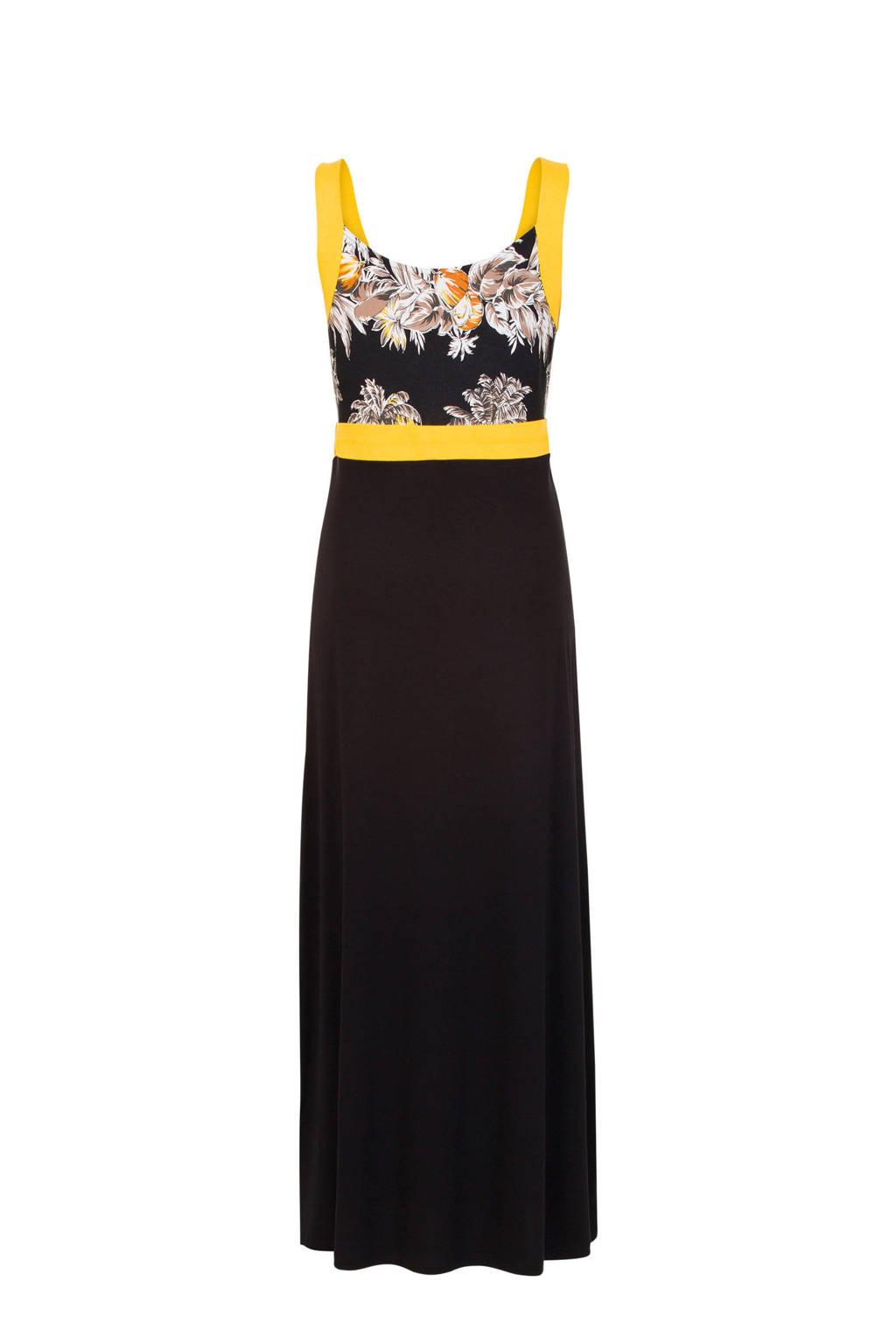 Miss Etam Regulier maxi jurk zwart, Zwart