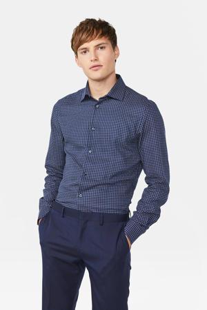 regular fit overhemd met all over print marine