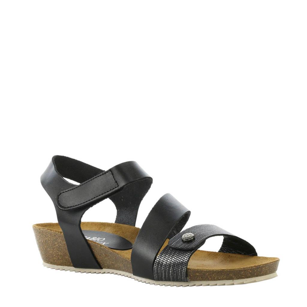 Fabio Deveraux 11232 leren sandalen zwart, Zwart