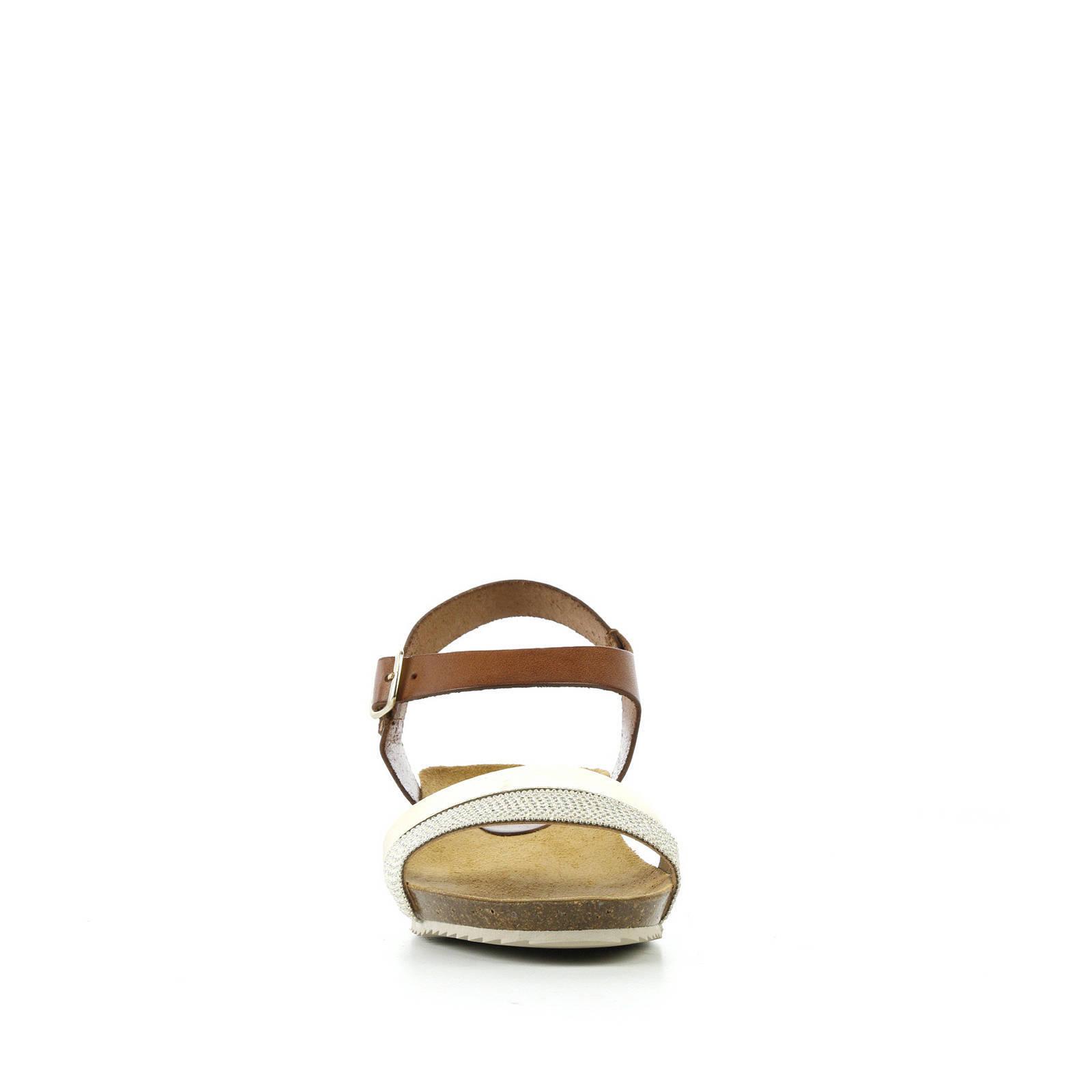 Fabio Deveraux leren sandalen goudbruin | wehkamp