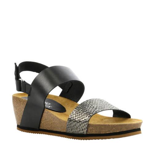 Fabio Deveraux leren sandalen zwart kopen