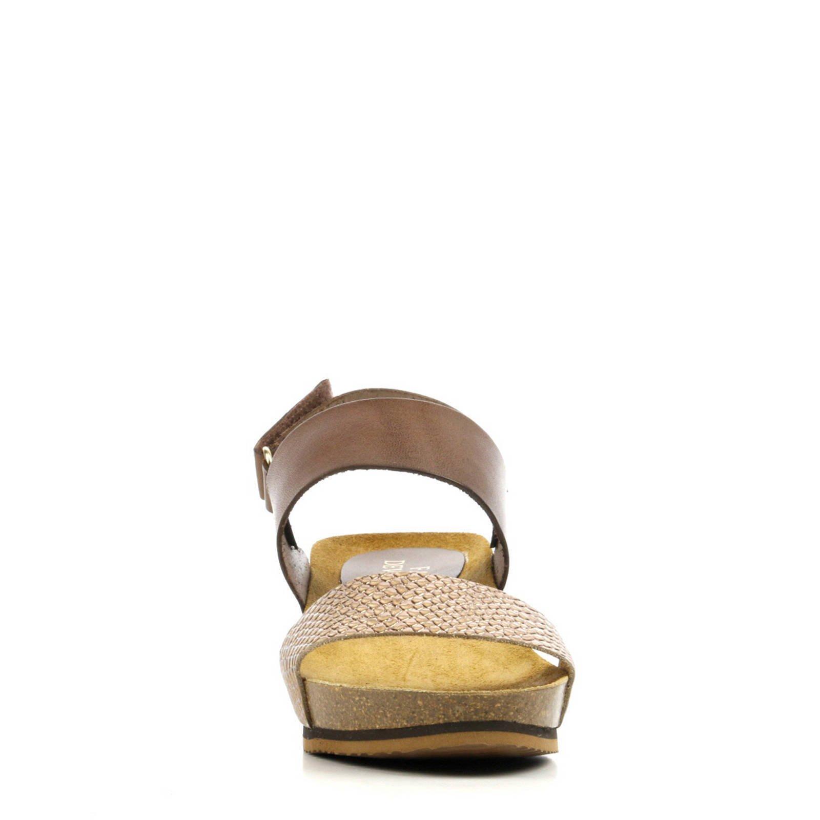 Fabio Deveraux leren sandalen bruin | wehkamp