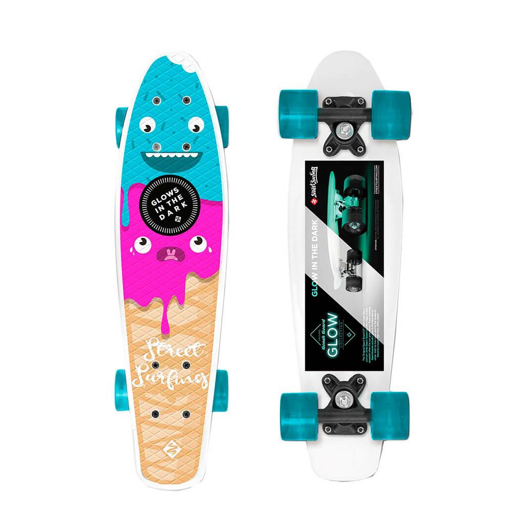 StreetSurfing  Glow Board Icecream, Blauw/roze/beige