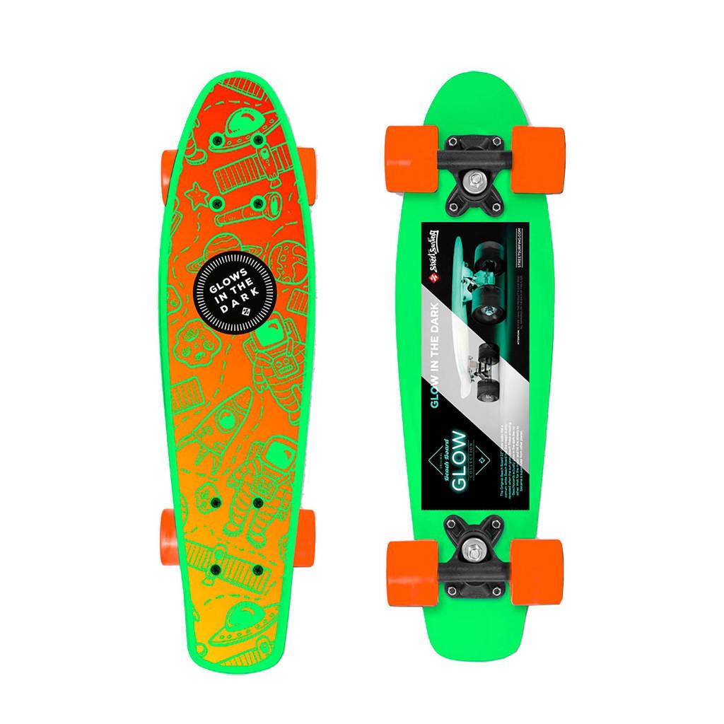 StreetSurfing  Glow Board Space, Groen/oranje