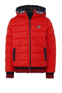 Quapi omkeerbare winterjas Tjeerd donkerblauw/rood, Donkerblauw/rood