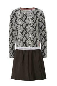 Quapi jurk Tala met slangenprint grijs, Donkergrijs