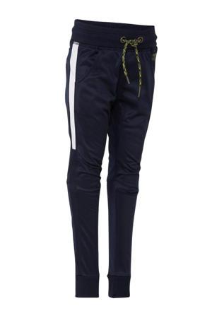 joggingbroek met zijstreep donkerblauw