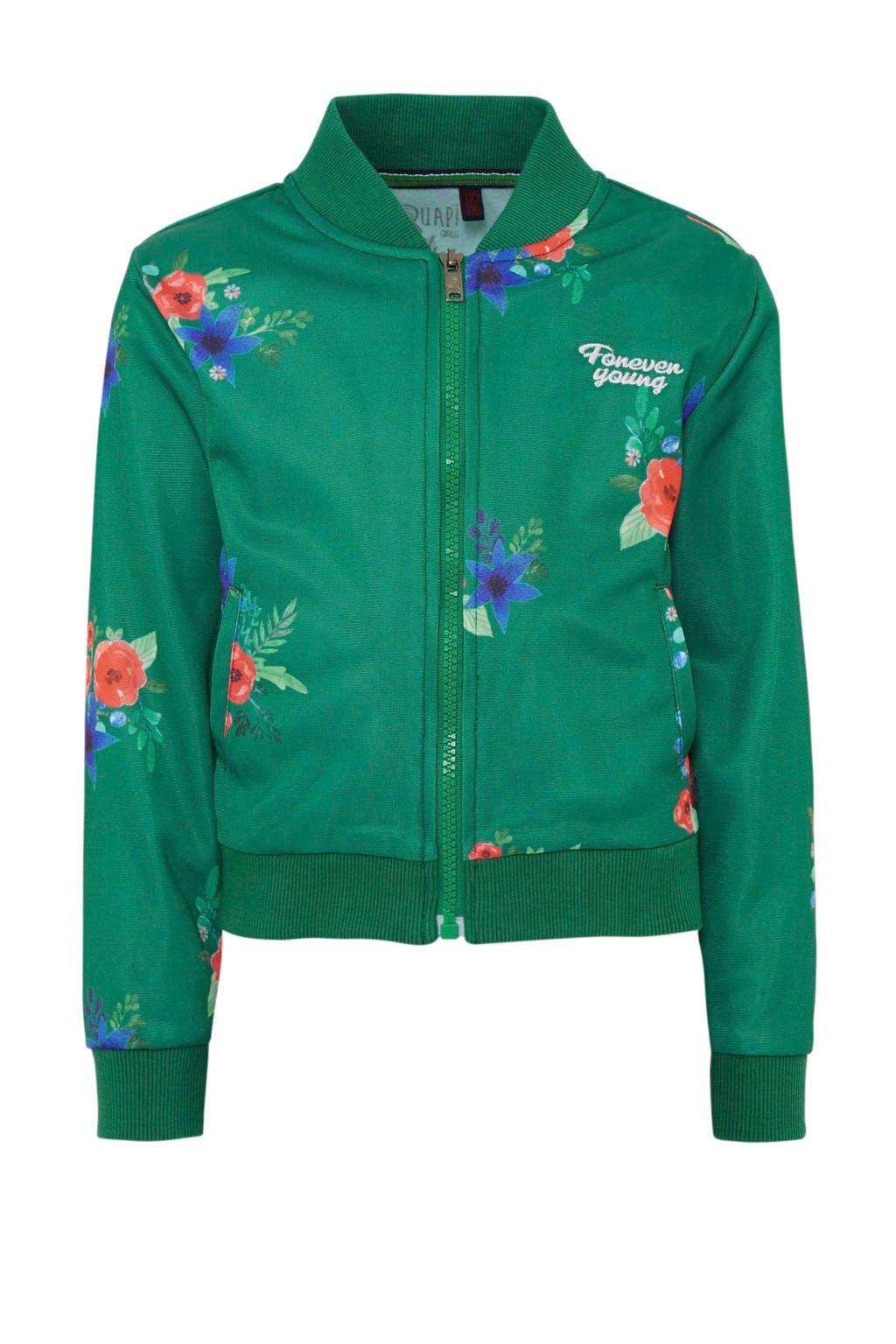 Quapi gebloemd jasje Teyla  groen, Groen