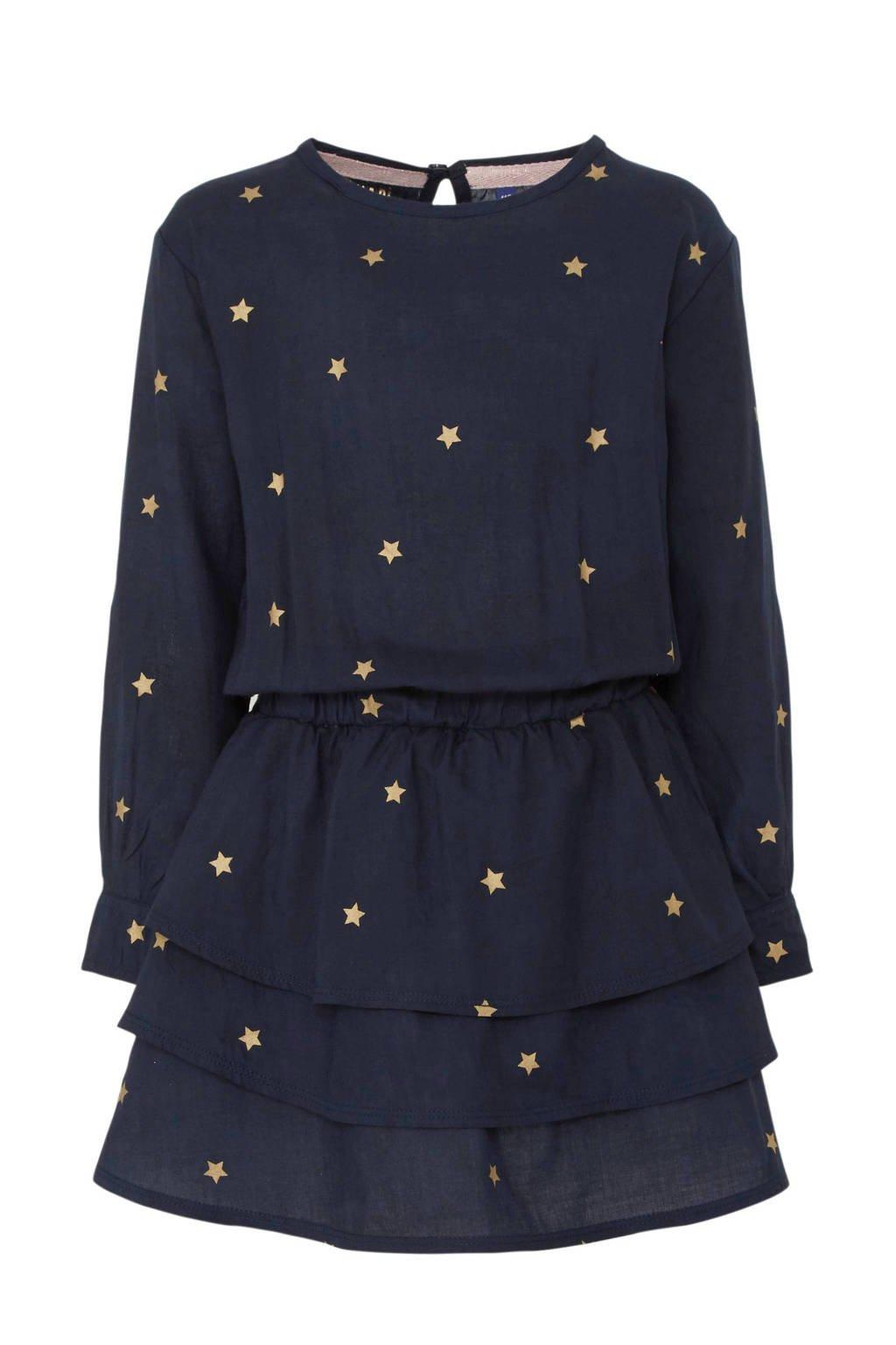 Quapi jurk Taiza met sterren donkerblauw, Donkerblauw