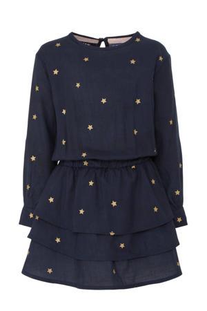 jurk Taiza met sterren donkerblauw