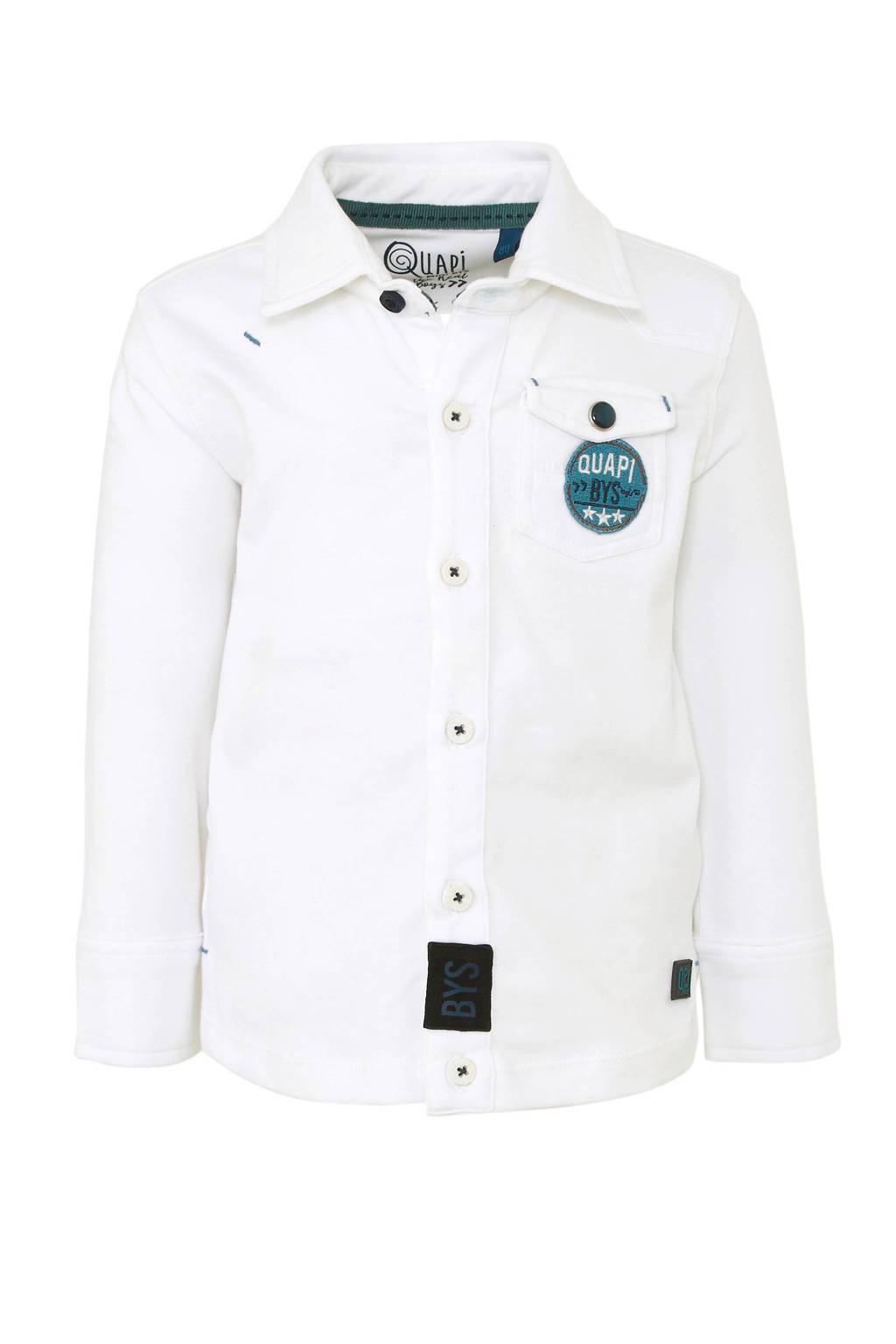 Quapi overhemd met logo wit, Wit