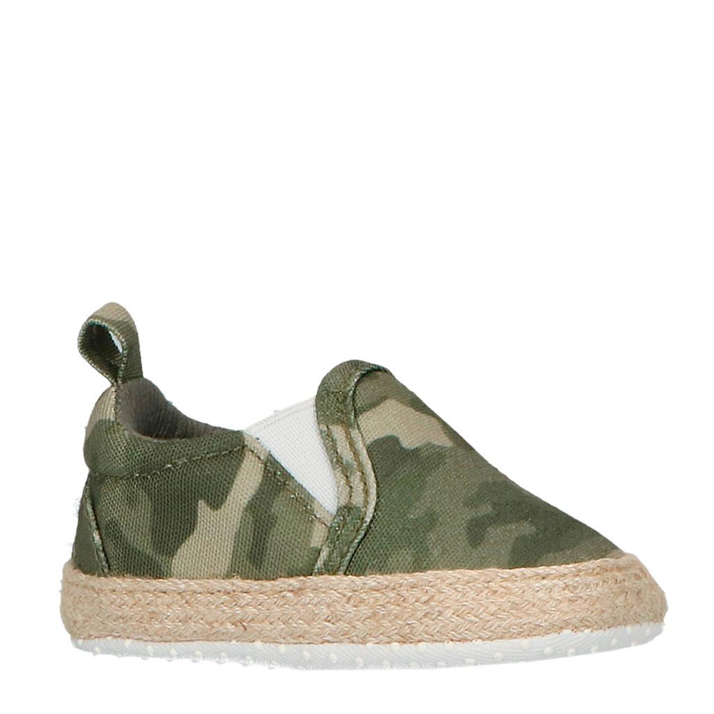 XQ espadrilles babyschoenen camouflage, Groen/Camouflage