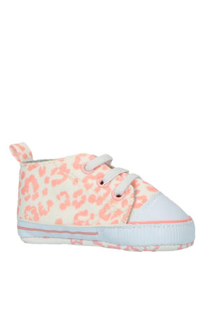 babyschoenen panterprint roze