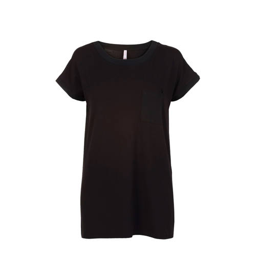 Miss Etam T-shirt met borstzakje zwart