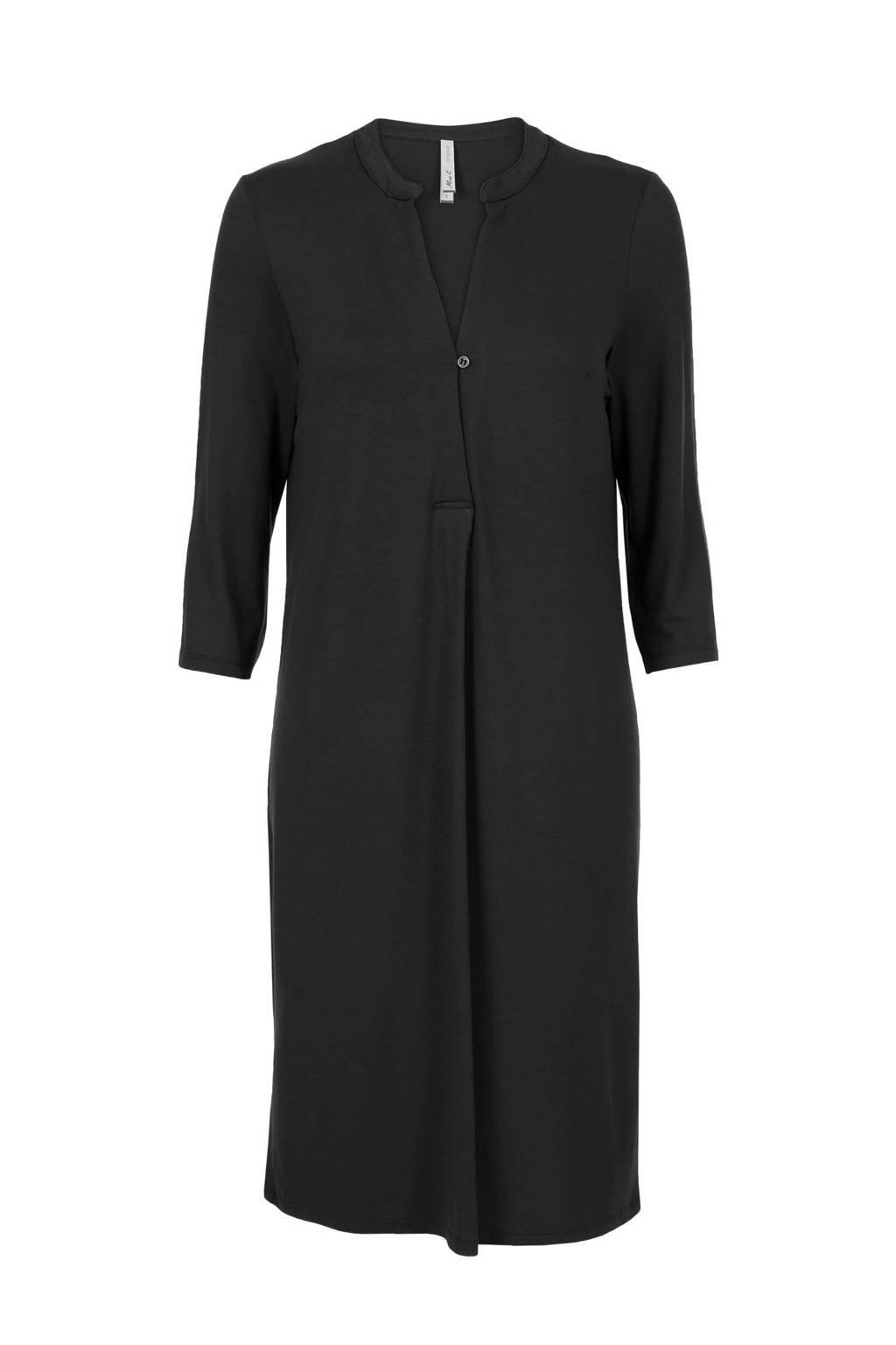 Miss Etam jersey jurk zwart, Zwart