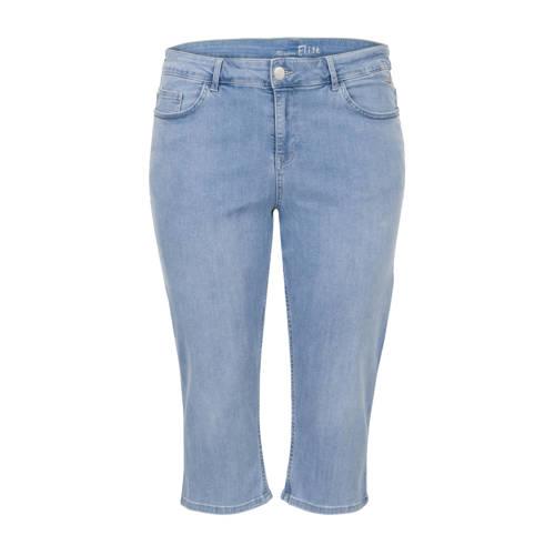 Miss Etam Plus slim fit capri jeans Elise met zijstreep
