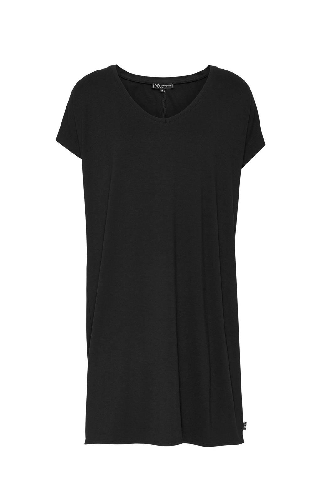 Didi loose fit jurk zwart, Zwart