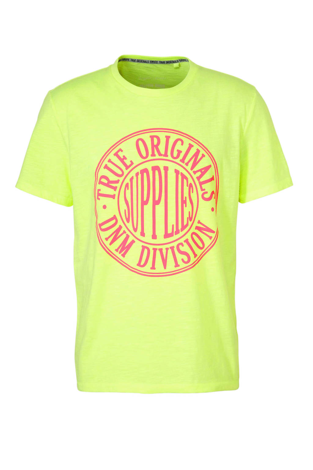 C&A Angelo Litrico T-shirt met printopdruk, Geel