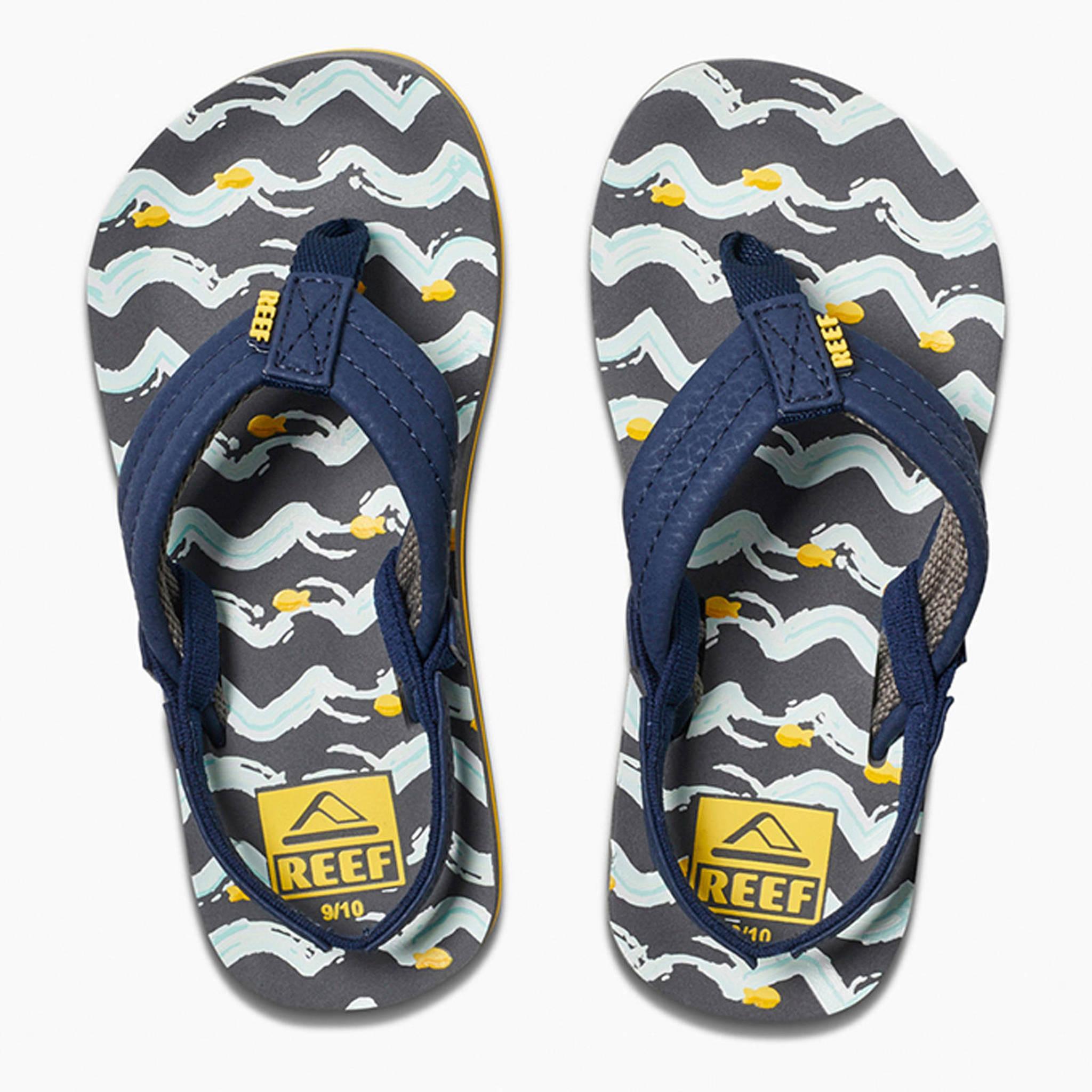 d0c355ca585 Reef Little Ahi sandalen blauw/geel | wehkamp