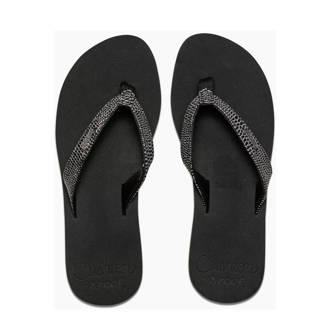 Star Cushion Sassy teenslippers zwart/zilver