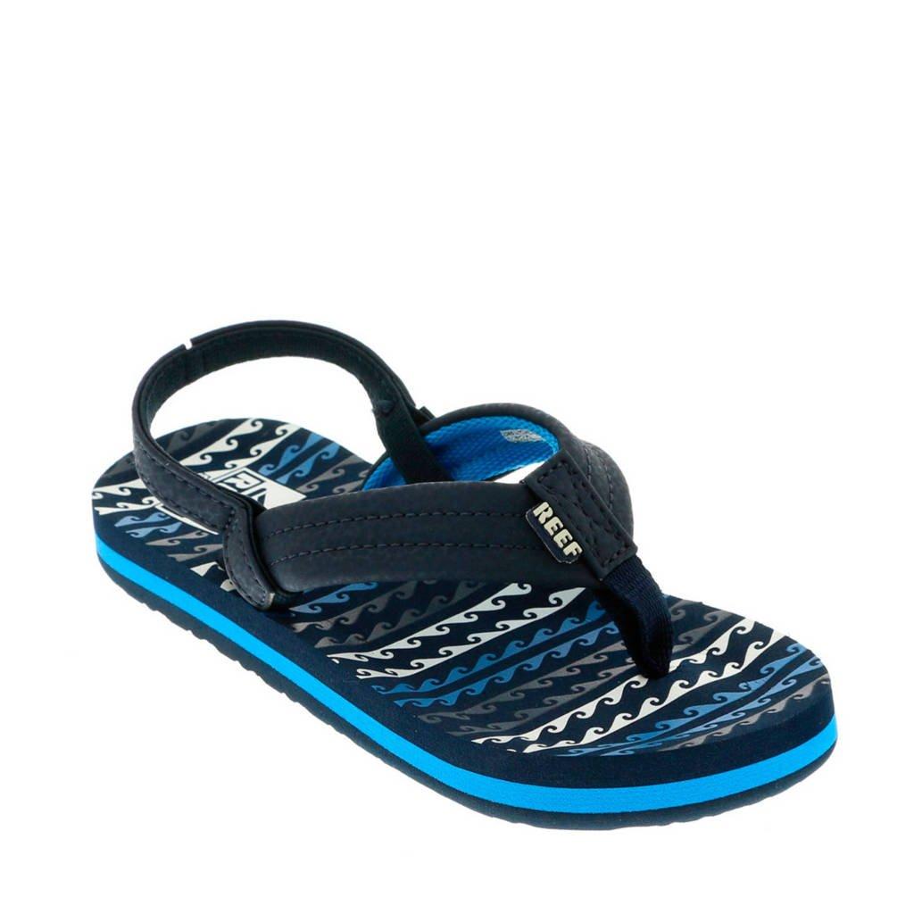 6cd7e005c79 Reef Little Ahi sandalen donkerblauw, Donkerblauw/blauw/wit