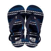 Reef Little Ahi  teenslippers donkerblauw, Donkerblauw/blauw/wit