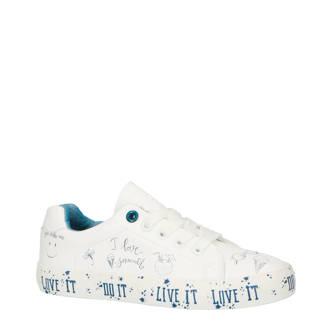Davy sneakers wit/blauw