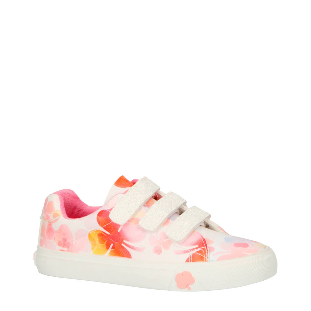Go4It   Davy sneakers wit/roze, Wit/multi