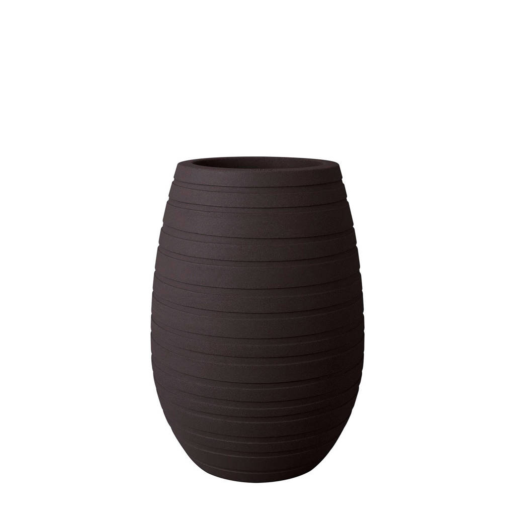 Elho bloempot Allure Ribbon Vase 43 cm, Donkerbruin