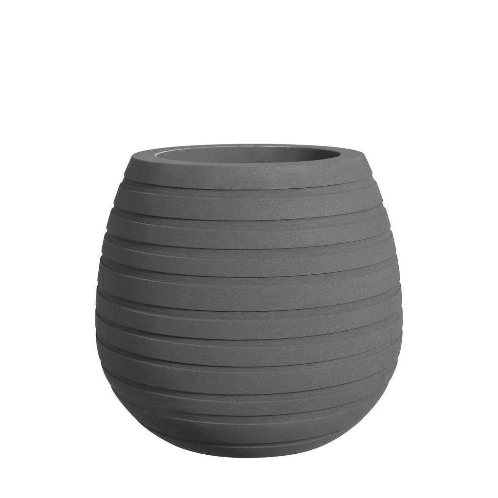 Elho bloempot Allure Ribbon Vase Low 43 cm, Grijs