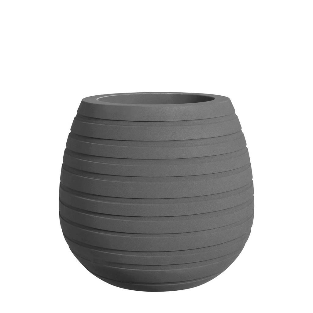 Elho bloempot Allure Ribbon Vase Low 48 cm, Grijs
