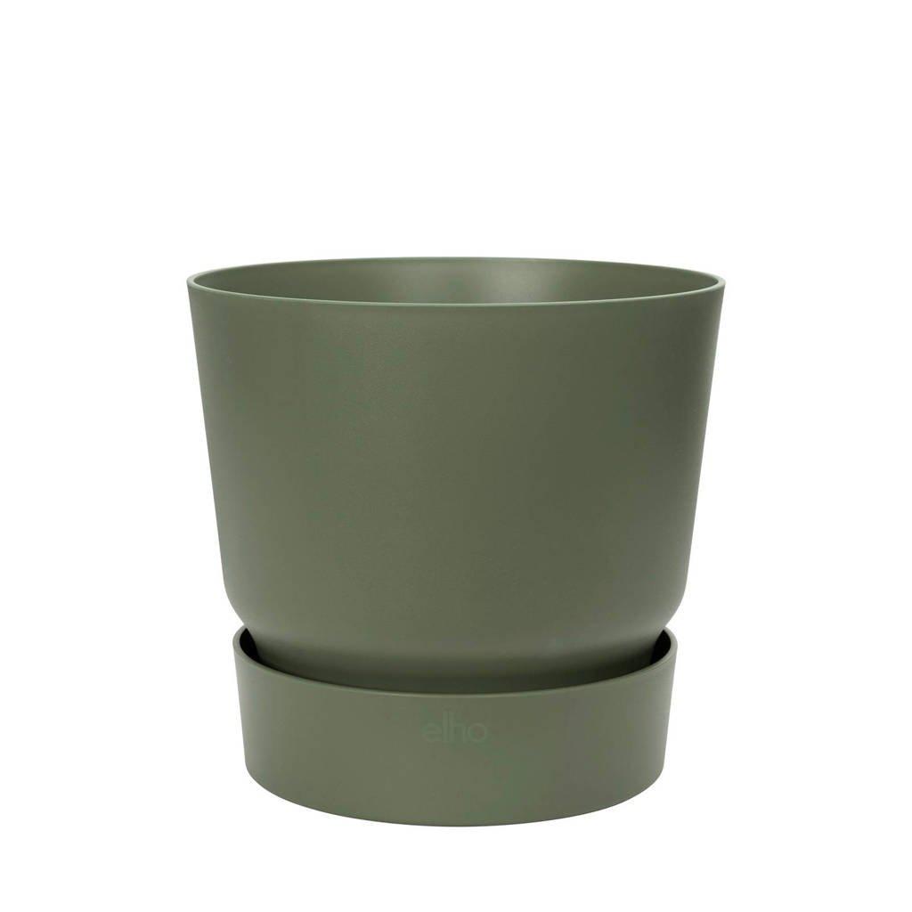 Elho bloempot Greenville met waterreservoir 47 cm, Donkergroen
