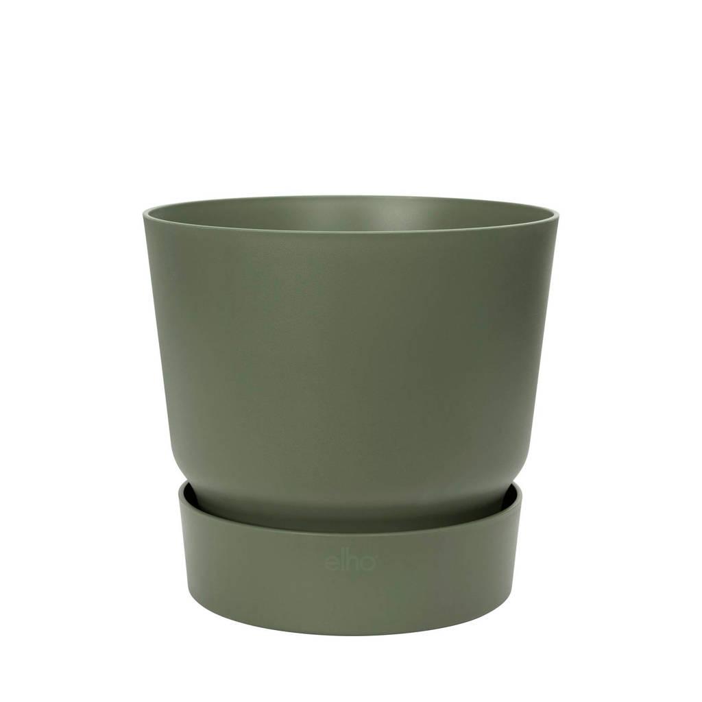 Elho bloempot Greenville met waterreservoir 40 cm, Donkergroen
