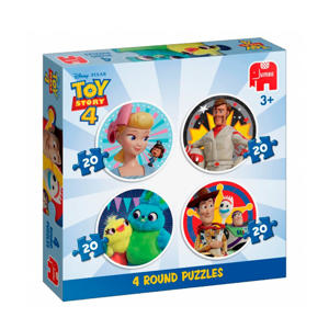 Toy Story 4 ronde  legpuzzel 80 stukjes