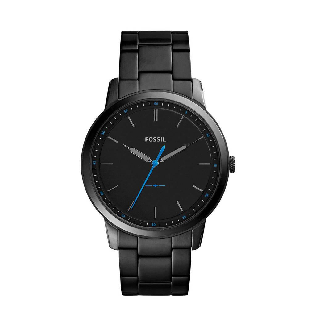 Fossil horlogeThe Minimalist 3H FS5308 zwart, Zwart