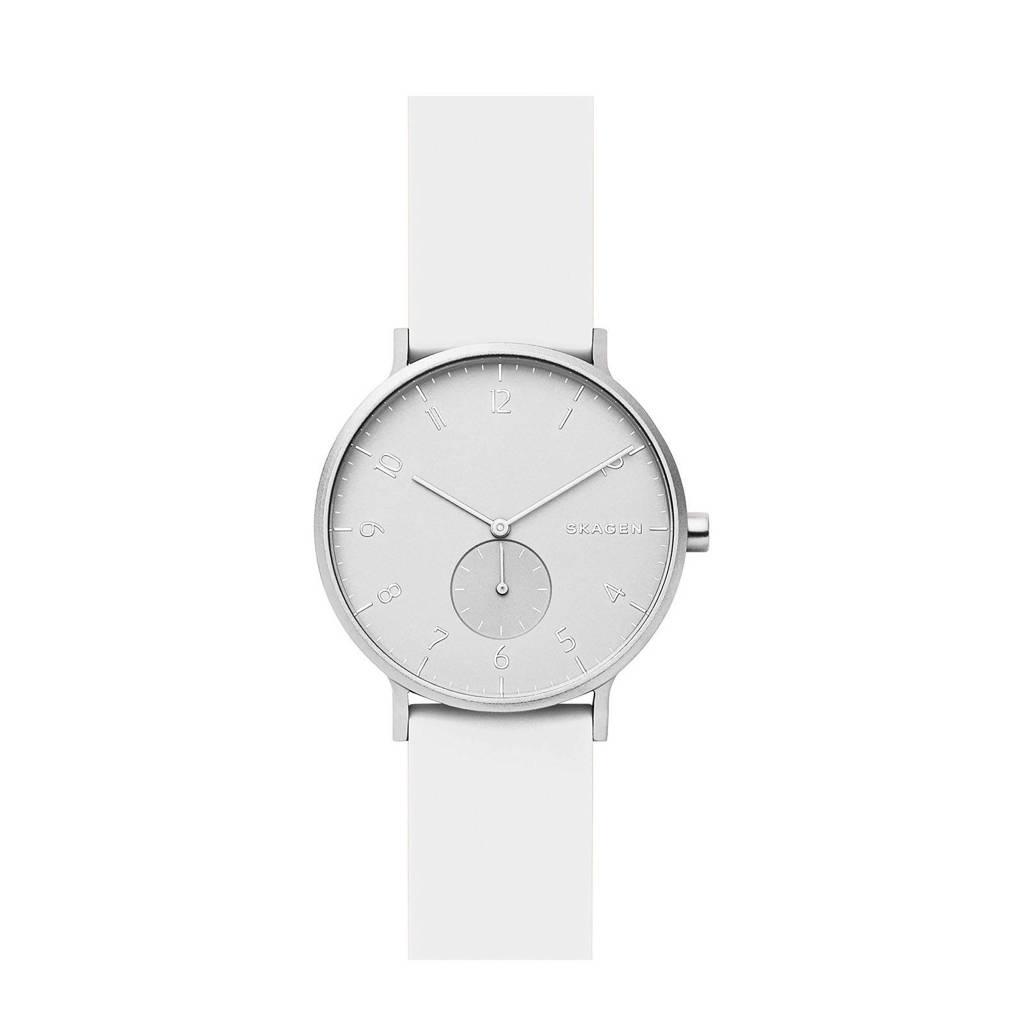 Skagen horloge Aaren SKW6520 wit/zilver, Zilver/wit, 41